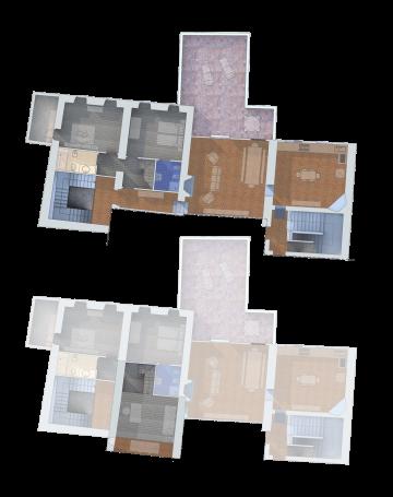 Pianta appartamento La Terrazza Cortonese