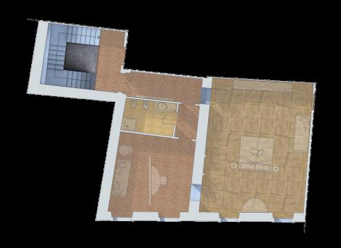 Pianta appartamento Suite Reale